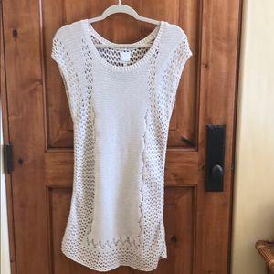 Gorgeous ella moss crocheted dress w detached slip